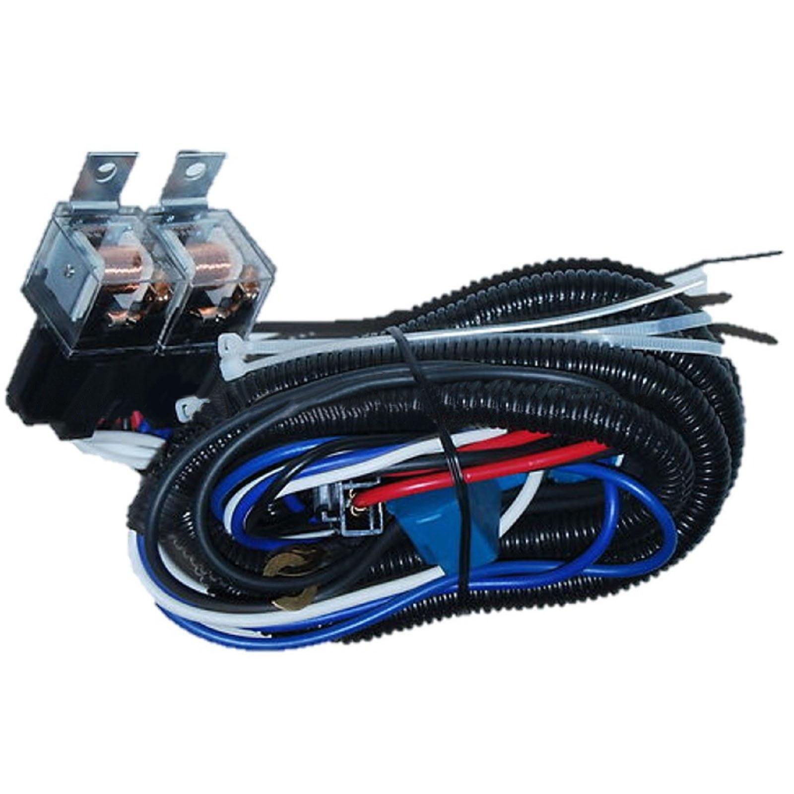 Ceramic H4 Headlight 4 Headlamp Light Bulb Socket Plug Relay Wiring Accessory Harness 4x6