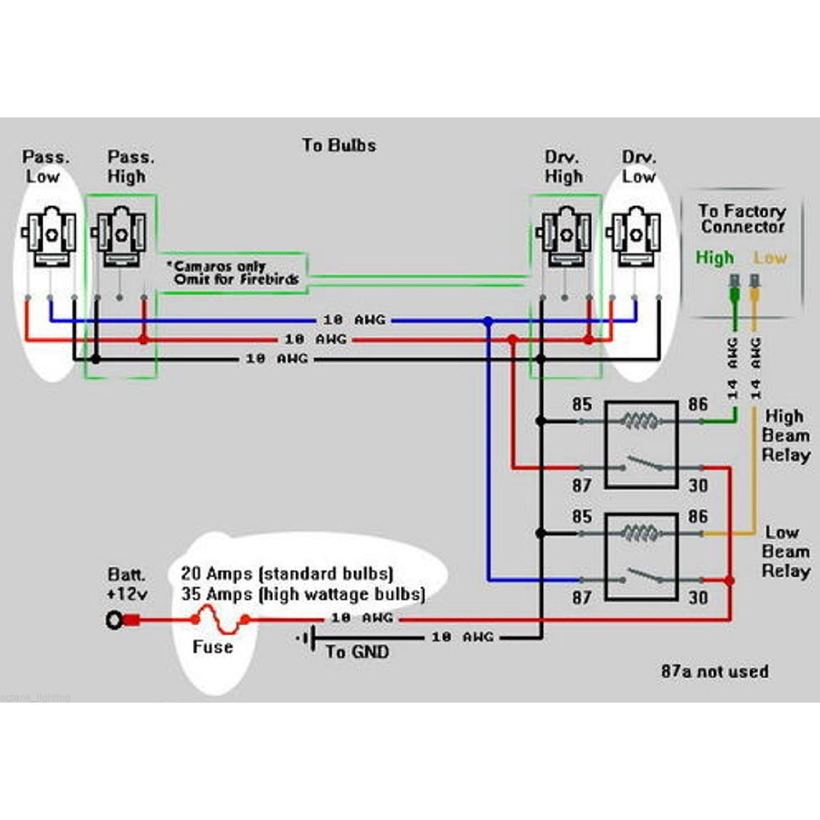 Details about Ceramic H4 Headlight Relay Wiring Harness 4 Headlamp on