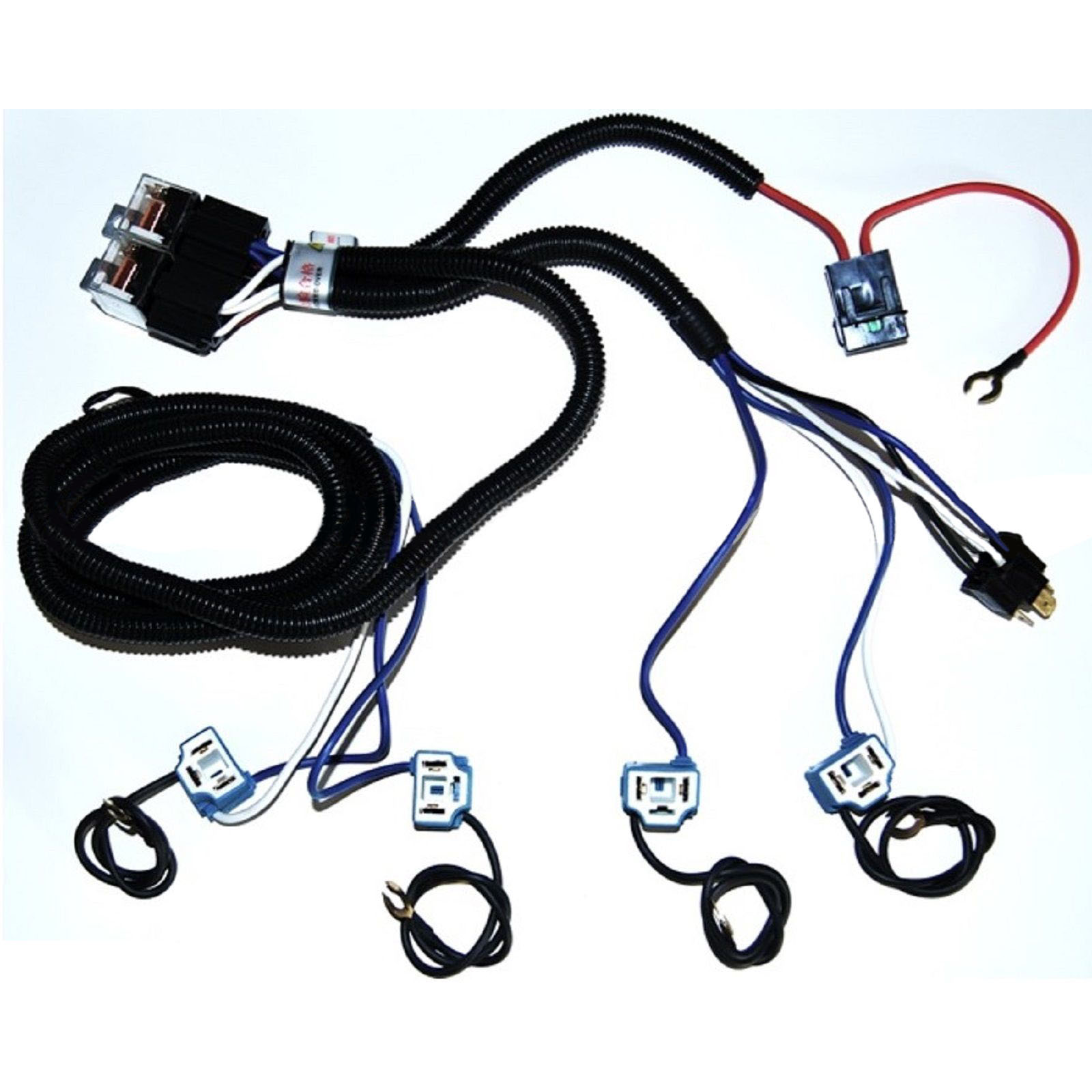 Ceramic H4 Headlight Relay Wiring Harness Headlamp Light