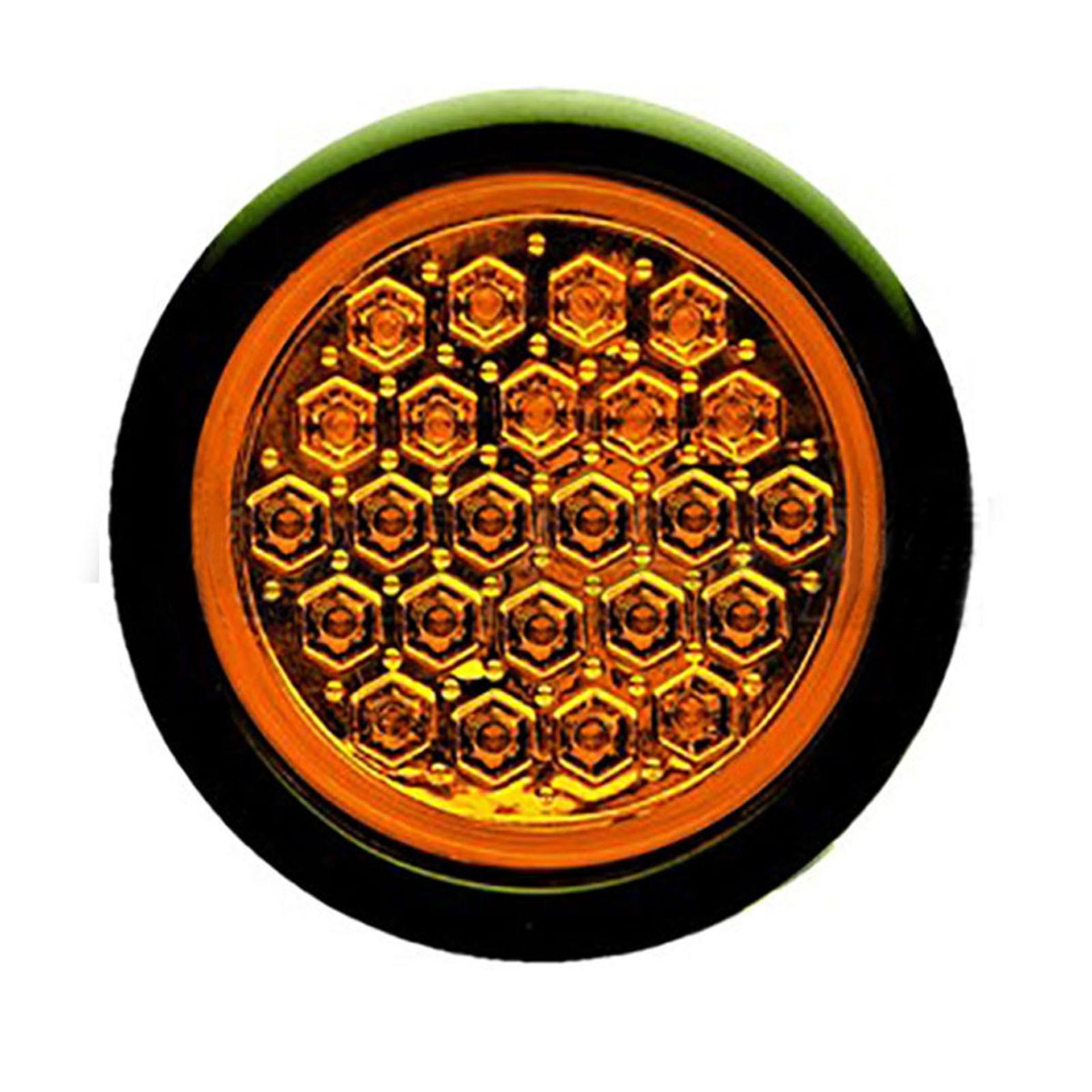 4 U0026quot  Round Led Flush Mount Brake Tail Light Turn Signal Red