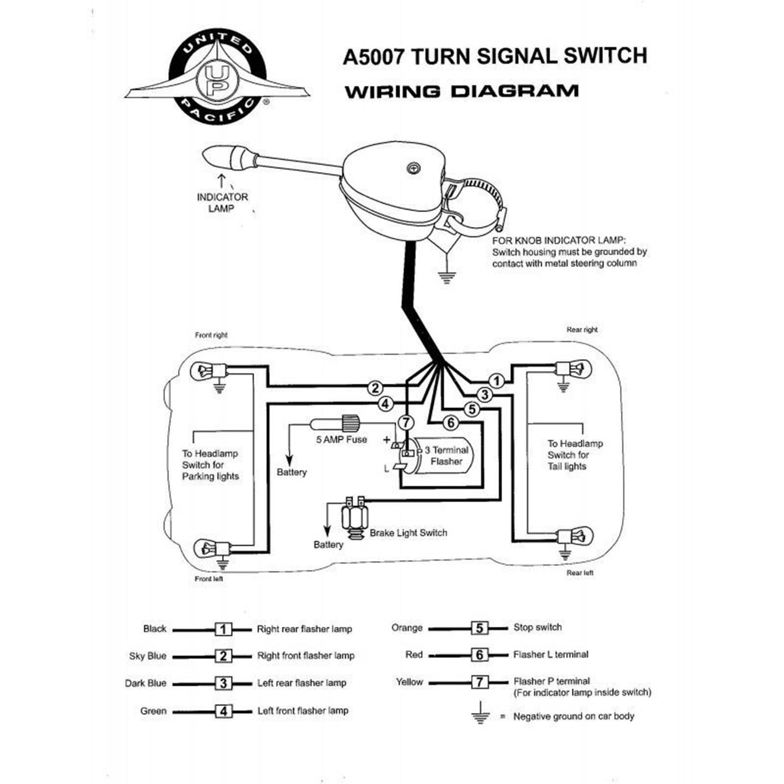 signal stat 900 sigflare wiring diagram 12 volt chrome steel turn signal flasher switch steering column  chrome steel turn signal flasher switch