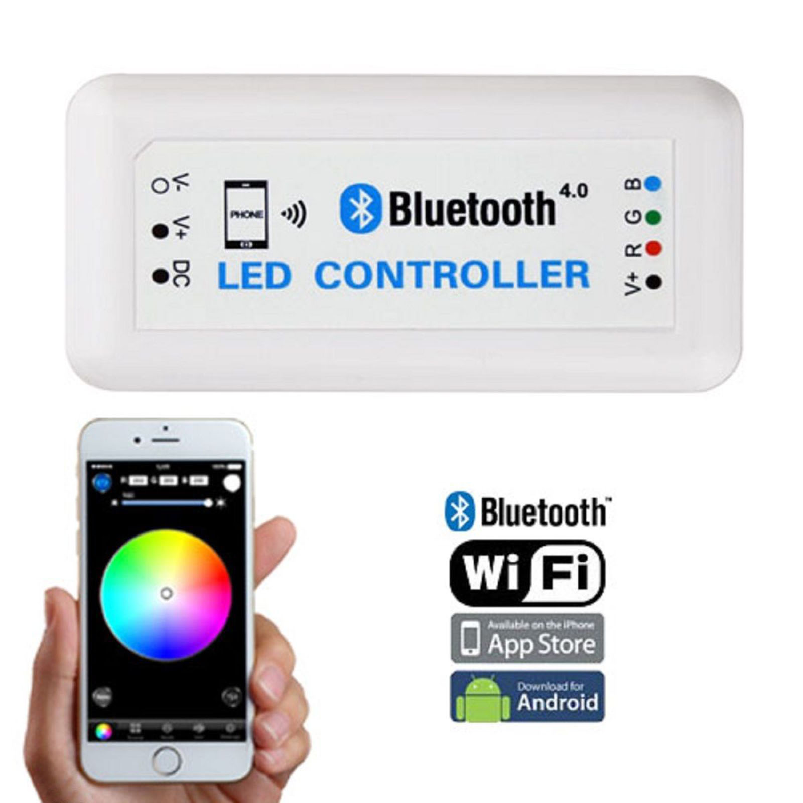 Details about Bluetooth Cell Phone iOS Android RGB LED Color Changing Light  Remote Controller
