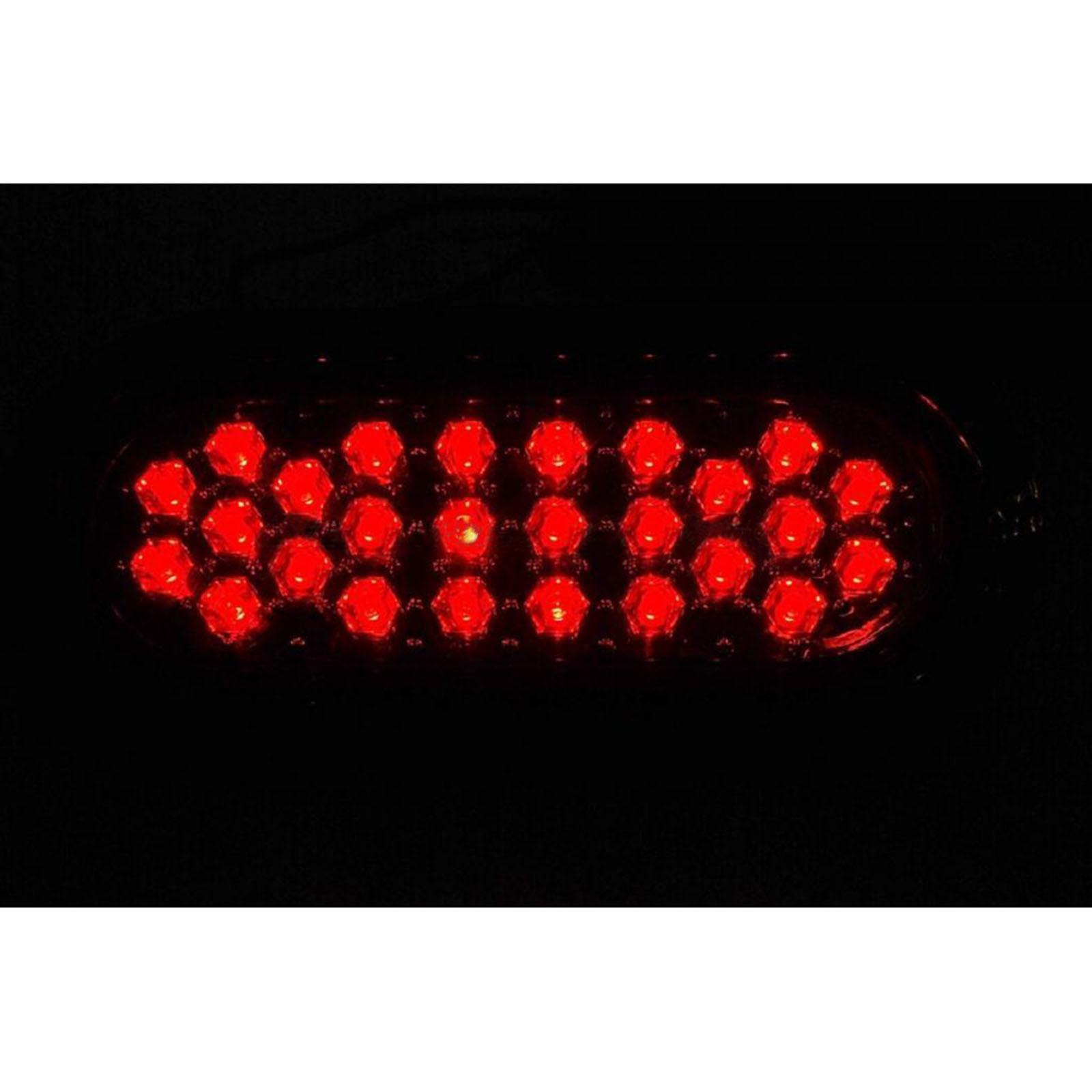 "2 6/"" Work Truck Box Trailer Rv Brake Tail Light Turn Signal Red 26-Led Lights"