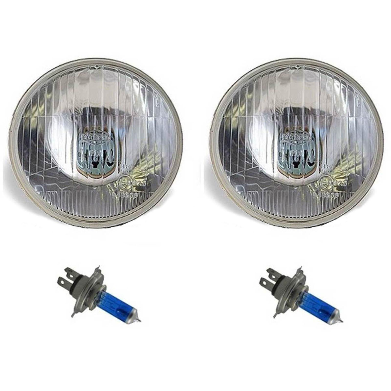 "7"" Halogen Semi Sealed Beam Stock Headlight Head Lamp Bulbs H4 100/90W Pair 3"