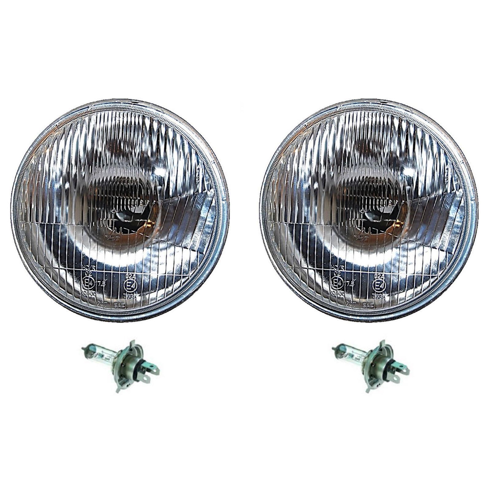 "7/"" 24V Halogen Military Trucks /& Jeeps Headlight Bulbs Crystal Clear 24 Volt Pr"