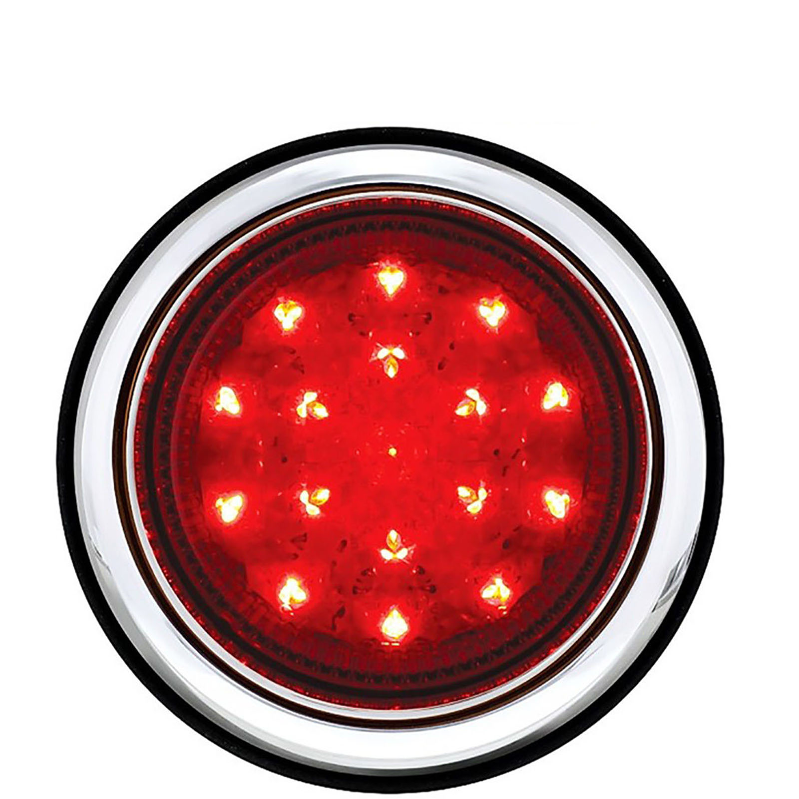 3 3 4 Quot Red Led Flush Mount Truck Trailer Brake Tail Light