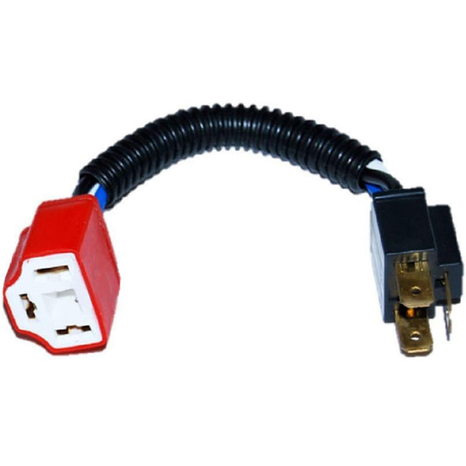 Ceramic H4 Hi Heat Headlight Headlamp Light Bulb Wiring Harness Socket Plug 4x6