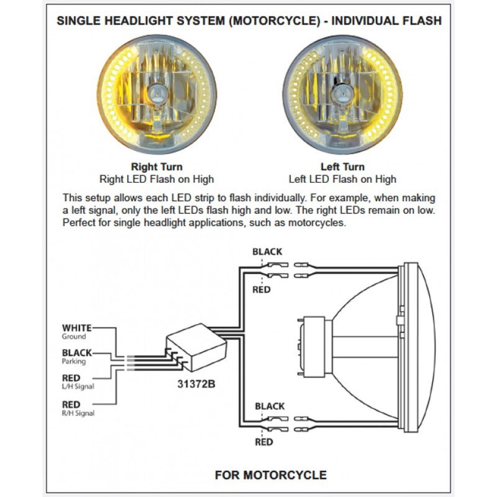 Motorcycle Led Headlight Drl Halo Light Bulb  U0026 Turn Signal