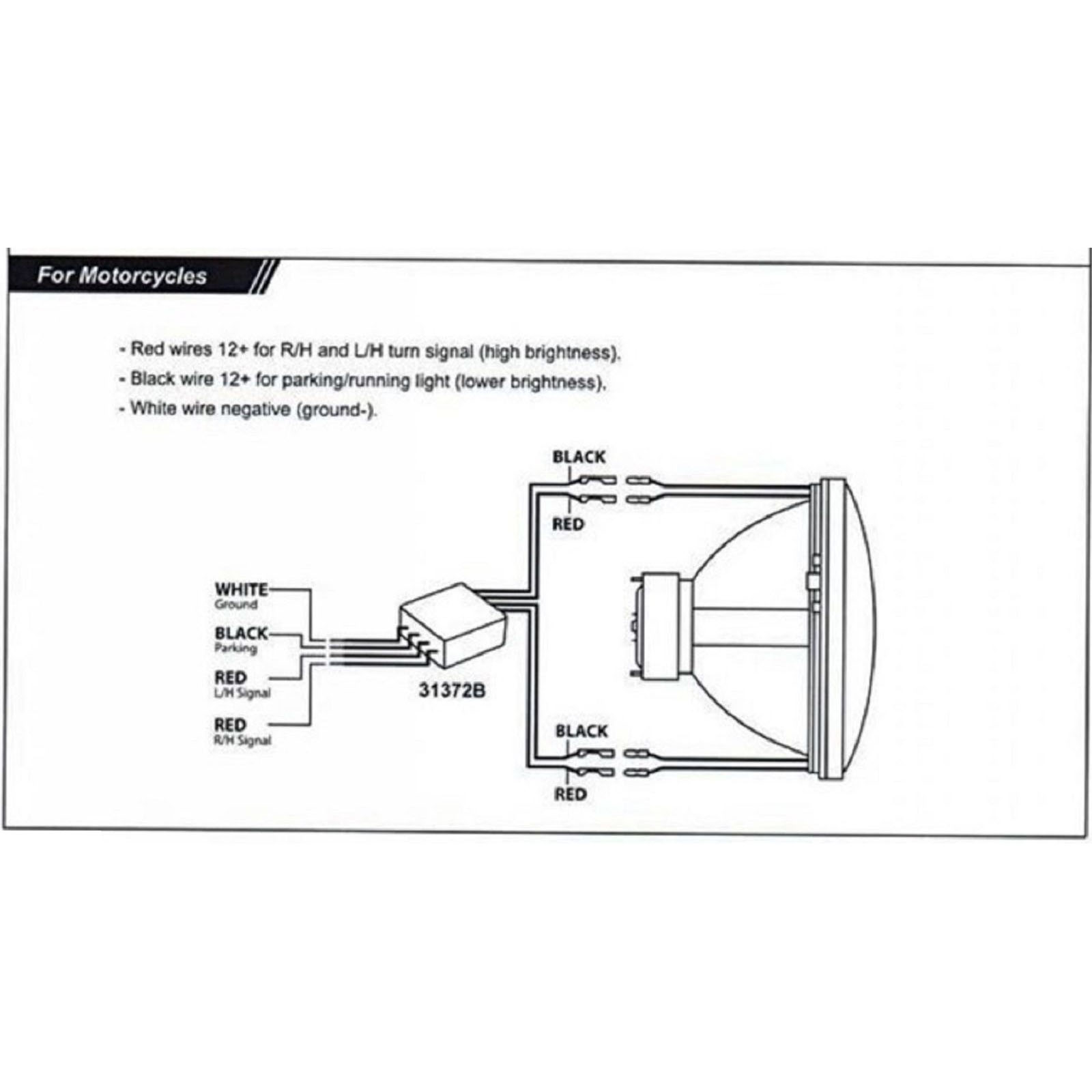 Motorcycle Led Headlight Wiring Diagram Halo