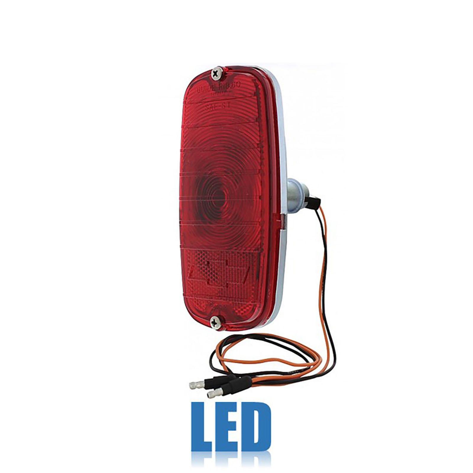 60 61 62 63 64 65 66 Chevy Fleetside Gmc Truck Tail Light Lamp Lens Assembly