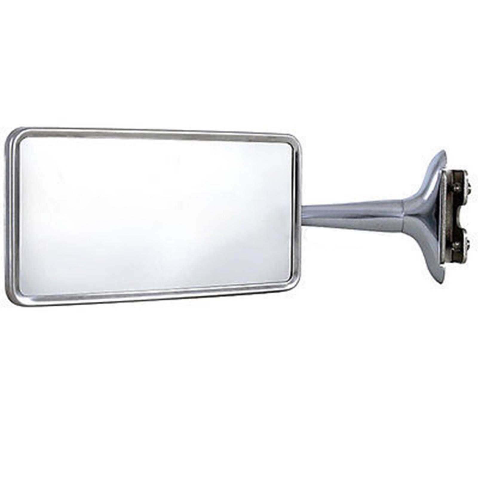 Rectangle Long Arm Peep Mirror Outside Side Rear View Door Hot Street Rat Rod Pr