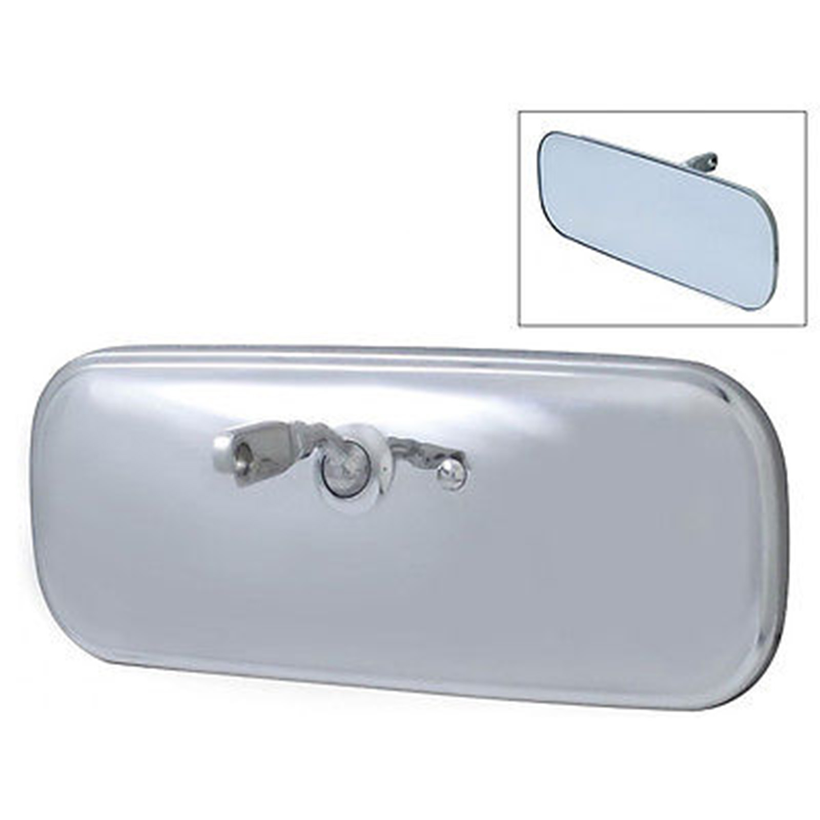 60 71 chevy gmc pickup truck stainless interior rear view glass mirror bracket 636676504957 ebay for Interior rear view mirror replacement glass
